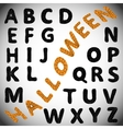 Halloween alphabet ABC vector image