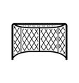 Hockey gates black simple icon vector image vector image