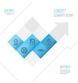 internet icons set collection safeguard vector image vector image