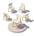 isometric designer chair vector image