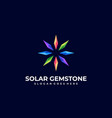 logo solar gemstone gradient colorful vector image
