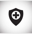 medical protection shield on white background vector image
