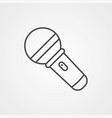microphone icon sign symbol vector image vector image