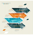 Modern arrows template style vector image vector image