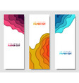 modern creative set posters with a 3d abstract vector image vector image