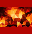 multicolor red low poly background abstract vector image vector image
