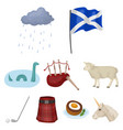 national symbols of scotland scottish attractions vector image vector image