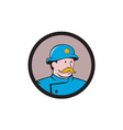 New York Policeman Vintage Circle Cartoon vector image vector image