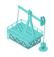 oil pump extraction derrick oil mining industrial vector image