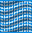 oktoberfest blue checkered flag background vector image vector image