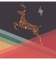Ornamental Christmas reindeer and mountains vector image