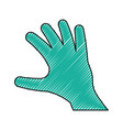 outstretched hand symbol vector image vector image