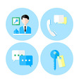 Personal service icon set vector image