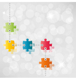 puzzle path background vector image vector image