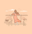 relaxation and vacation on sea beach concept vector image