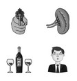 robbery restaurant and other monochrome icon in vector image vector image
