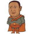 sad superhero vector image vector image