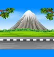scenery with road and the mountain vector image