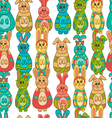 Seamless pattern with Easter bunny-9 vector image vector image