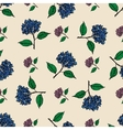 Seamless vintage pattern with flowers hydrangea vector image