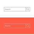 search bar ui element icon in flat style search vector image vector image