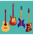 Set of different guitars vector image vector image