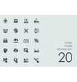 Set of future technology icons vector image