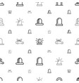 siren icons pattern seamless white background vector image vector image