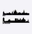 skyline two german cities duren and bad vector image vector image