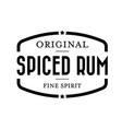 spiced rum vintage stamp vector image vector image