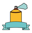 spray paint bottle with ribbon frame vector image