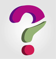 Stylized 3d question mark vector image