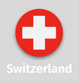 switzerland round icon vector image