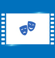 theater masks art vector image vector image