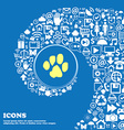 trace dogs sign symbol Nice set of beautiful icons vector image