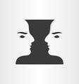 twins boys mirror symbol abstract design vector image