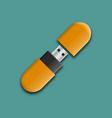 photo realistic mock-up flash drive vector image
