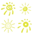 Yellow Sun Icons vector image