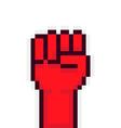 Pixel Rebel Hand vector image