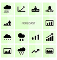14 forecast icons vector image vector image