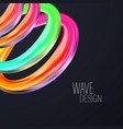 3d abstract fluid design colorful modern vector image
