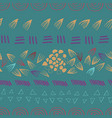 abstract aztec green seamless print design vector image