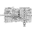 adventure honeymoon ideas text word cloud concept vector image vector image