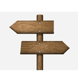 blank wooden sign vector image