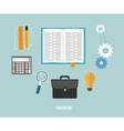 Business seo and education items icons vector image