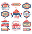 carnival event logotypes template badges vector image vector image