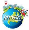 city and bike man or delivery man riding vector image vector image