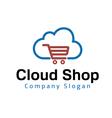 Cloud Shop Design vector image vector image