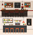 coffee shop interiors horizontal banners vector image