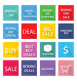 Collection of Boxing Day Banner for Special Price vector image vector image